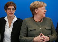 Annegret Kramp-Karrenbauer and Angela Merkel