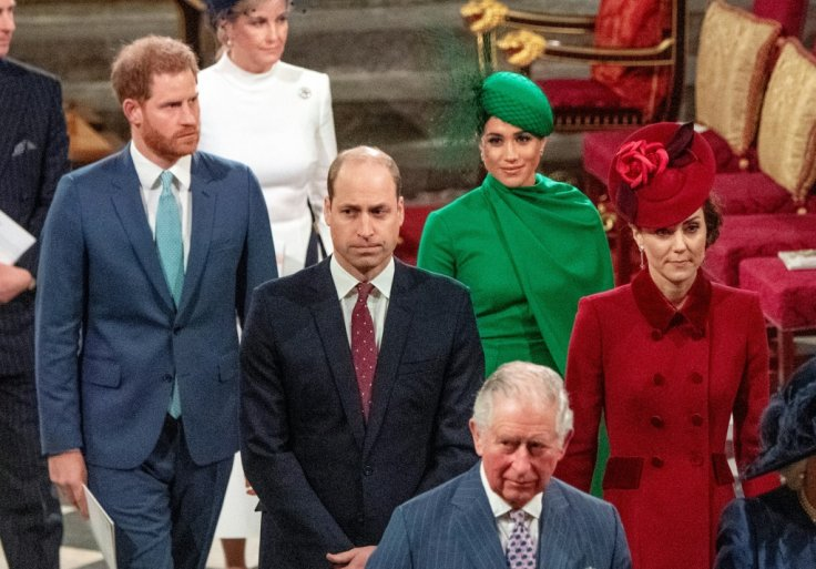 The British Royal Family at the Commonwealth Day Service.