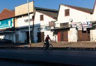 A cyclist in Harare