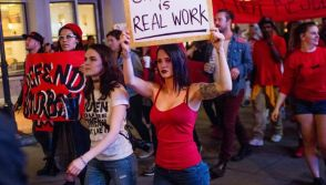 Sex Workers stage a demonstration