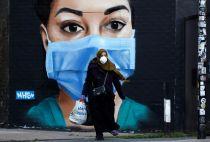 NHS worker mural