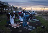 Muslims during ramadan