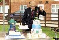 Captain Tom Moore celebrates his 100th birthday