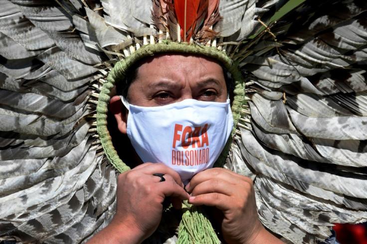 Indigenous Kaingang leader Kretan Kaingang