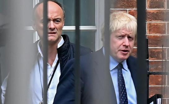 Boris Johnson's top adviser Dominic Cummings (left)