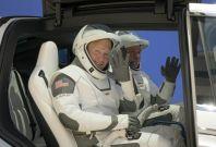 Douglas Hurley and Bob Behnken wearing SpaceX