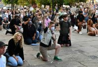 Protests in London over George Floyd's death