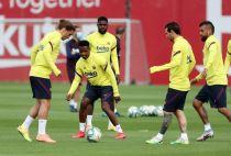 Barcelona Training session