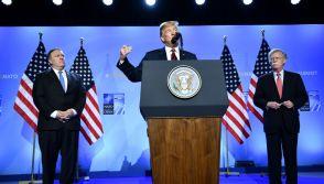 Donald Trump, Mike Pompeo and John Bolton