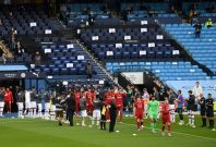 Manchester City players formed guard of honour