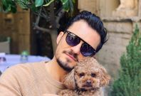 Orlando Bloom with his dog Mighty