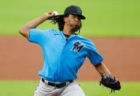Miami pitcher Jose Urena