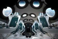 Interiors of the Virgin Galactic spacecraft