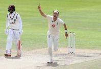 Magic moment - England's Stuart Broad celebrates