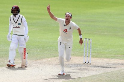 Magic moment - England's Stuart Broad celebrates
