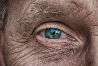 Eye of old woman