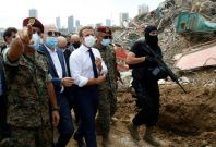 Macron visits explosion site in Beirut