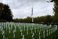 Tombs at the Aisne-Marne American Cemetery