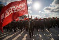 North Korean volunteers