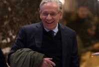 Bob Woodward arrives at Trump Tower