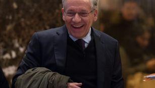 Bob Woodward arrives at Trump Tower