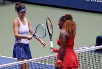Serena Williams and Tsvetana Pironkova