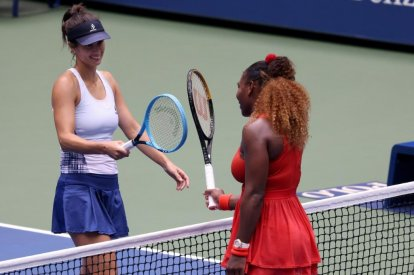 Serena Williams and Tsvetana Pironkova
