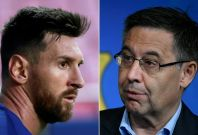 Lionel Messi and Josep Maria Bartomeu