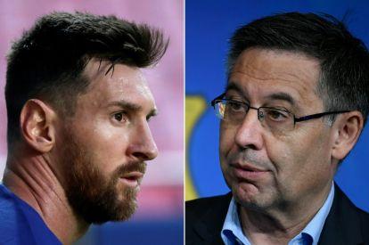 Lionel Messi and Josep Maria Bartomeu