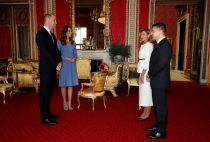 Prince William, Kate Middleton and Volodymyr Zelensky