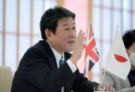 Japan's Foreign Minister Toshimitsu Motegi