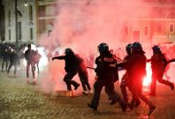 Italian police clashed with far-right activists