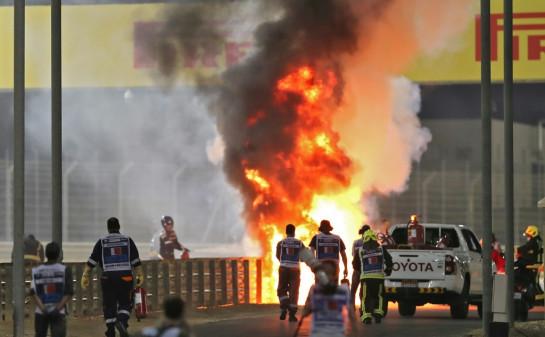 Grosjean crash