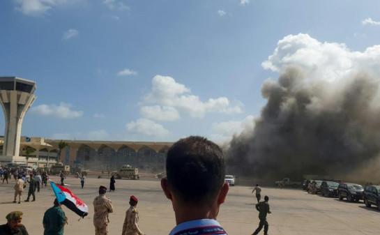 Yemen airport blast