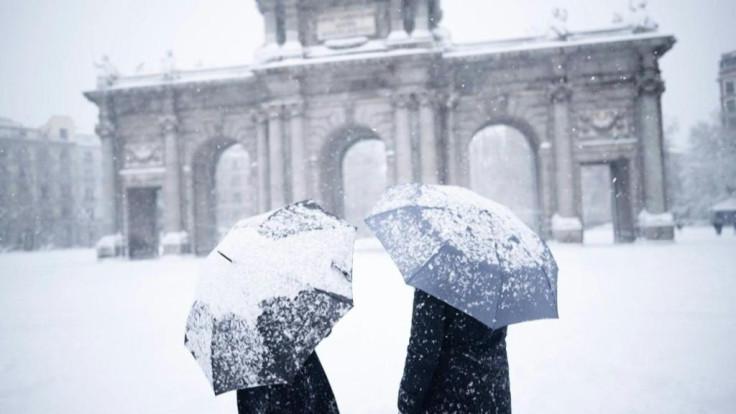 Madrid snow