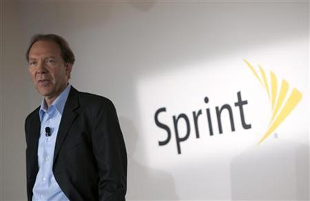 Sprint CEO, Dan Hesse, speaks at a product launch in New York