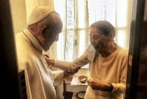 Pope Francis and Edith Bruck