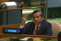 Myanmar's UN ambassador Kyaw Moe Tun