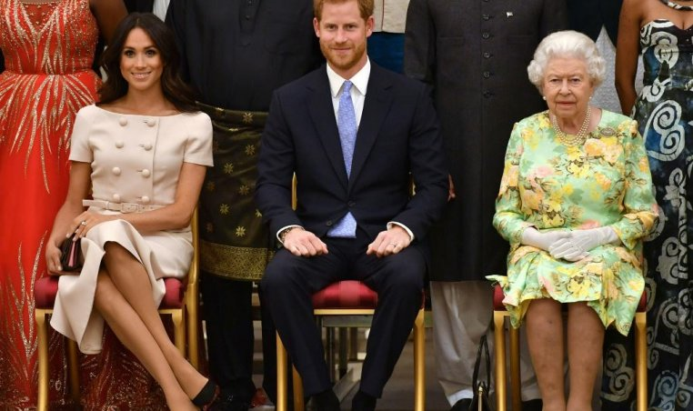 Meghan Markle, Prince Harry, Queen Elizabeth II