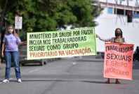 Sex workers on strike in Brazil