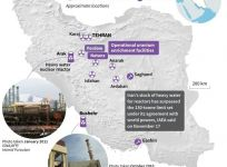 Map of Iran's nuclear facilities