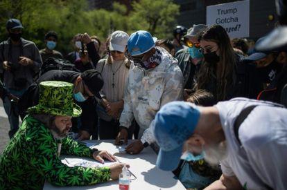 Marijuana activists