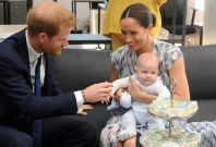 Prince Harry, Archie, and Meghan Markle