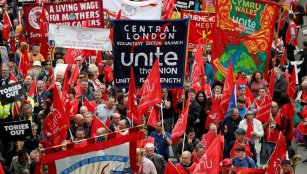 UK labour protest
