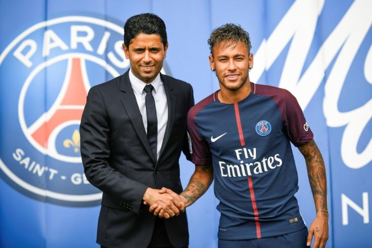 PSG President Nasir Al-Khalafi and Neymar Jr.