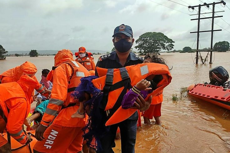 The west coast of India has sunk