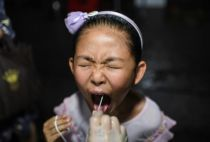 China swab test