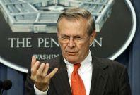 Then-US defense secretary Donald Rumsfeld