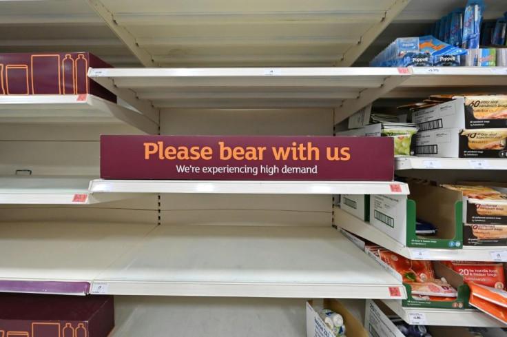 Lack of supermarket supply