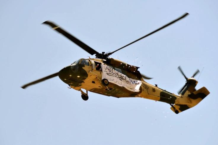 Black Hawk helicopter.